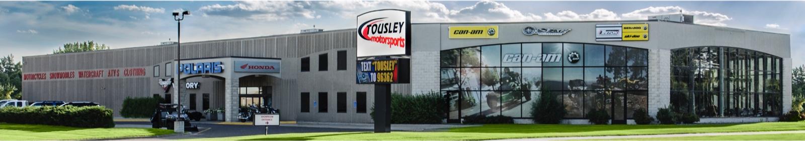 Exterior of Tousley Motorsports White Bear Lake, MN